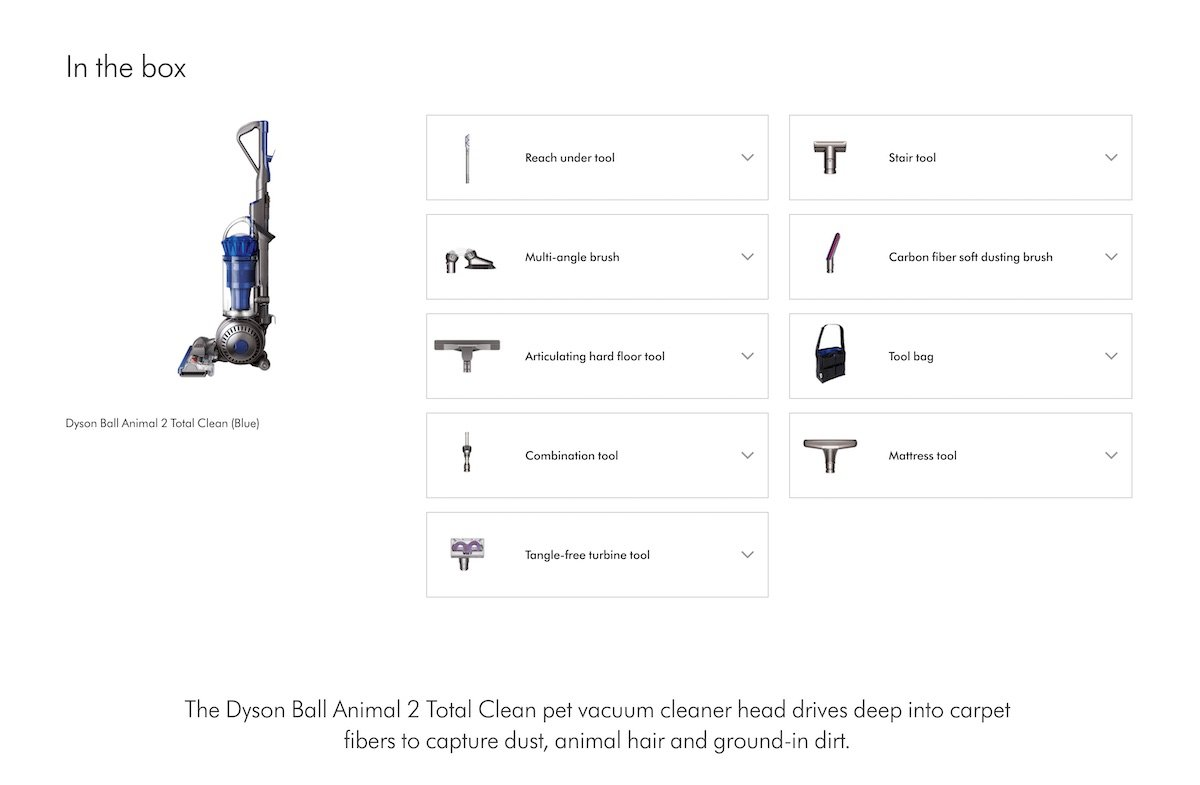 Dyson Vacuum Whats in the Box Value of Service