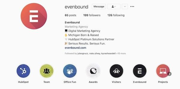 Evenbound Instagram About Info