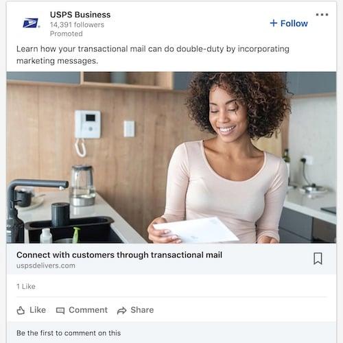LinkedIn Follow Company Ad