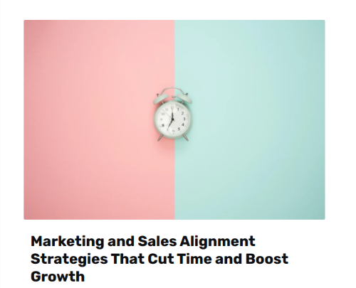 Marketing and Sales Alignment Click