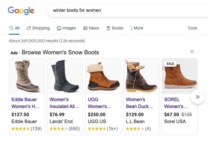 Paid Meida Google Shopping Ad