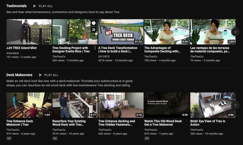 Trex Testimonials Video YouTube