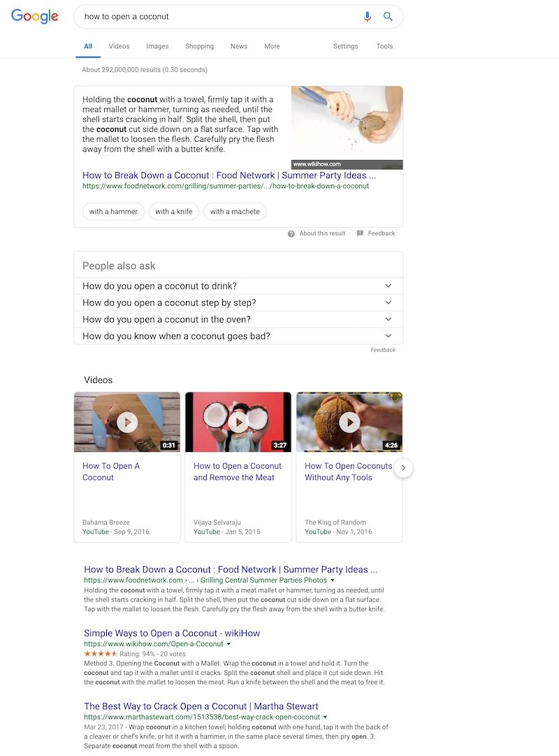 serp-how to open a coconut