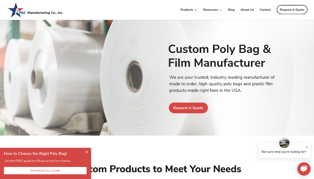 Apac manufacturing home page